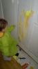 peinture à la verticale